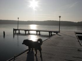 Lubiatów jezioro Sławskie wypoczynek nad jeziorem