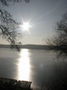 jezioro Sławskie Lubiatów wypoczynek nad wodą