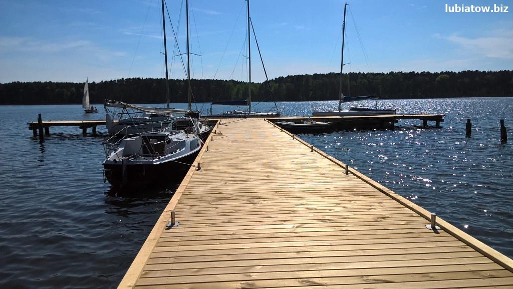 Nowy pomost żeglarski w Lubiatowie - port jezioro Sławskie, Sława i okolice.