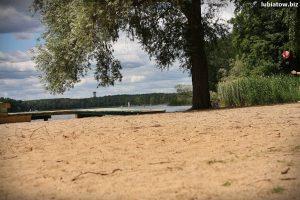darmowa plaża nad jeziorem sławskim w Lubiatowie koło Sławy