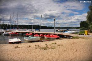 pomost żeglarski, port w Lubiatowie jezioro sławskie