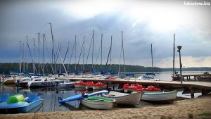 kajaki łódki łodzie rowerki wodne żaglówki Lubiatów jezioro Sławskie Sława