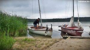 wypożyczalnia kajaki łódki łodzie rowerki wodne żaglówki Lubiatów jezioro Sławskie Sława