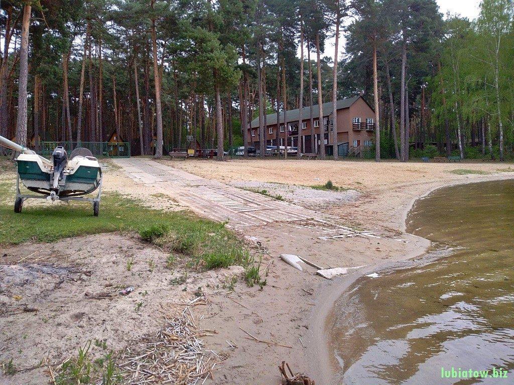 slip jezioro Sławskie, wodowanie łódek